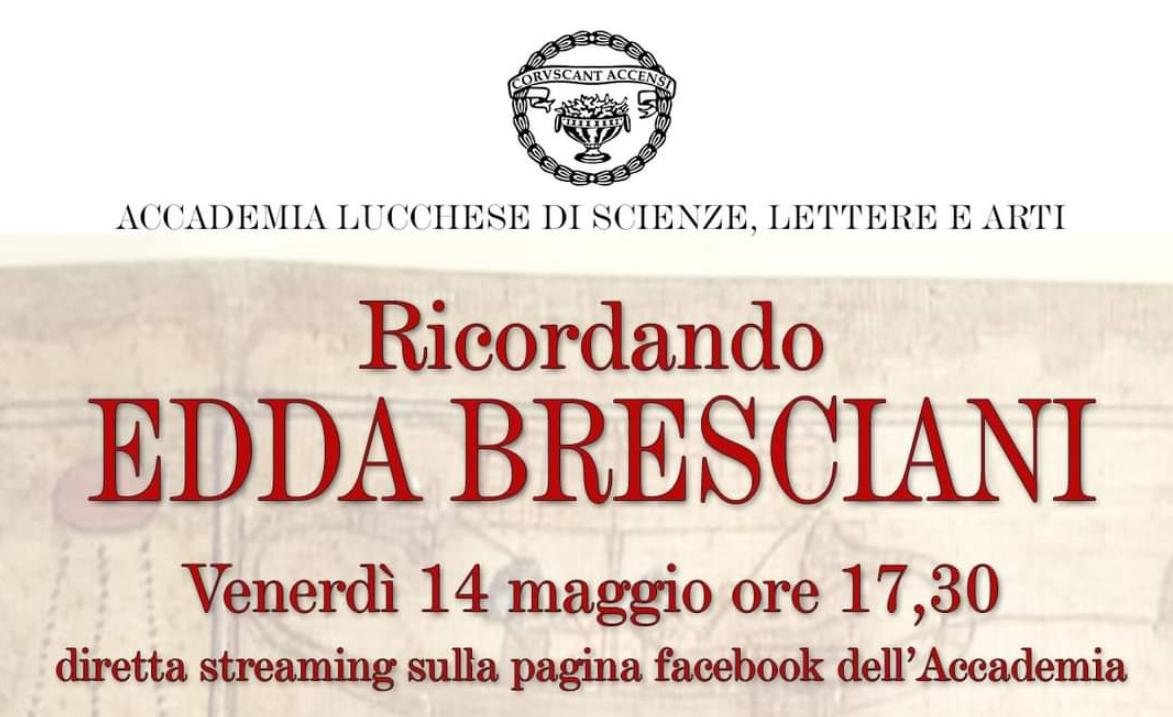Ricordando Edda Bresciani